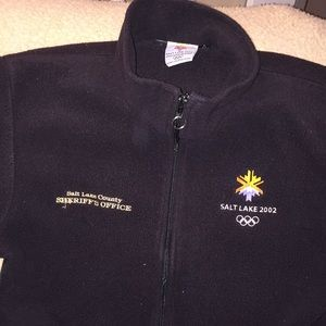 Salt Lake 2002 Sheriffs Olympics Fleece Zip Up